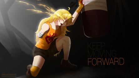 Yang, Keep moving forward - RWBY by kitsune0978