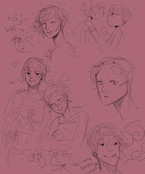 GaaraX Lee: sketches by yoyohunter