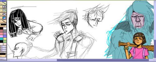 MANGA MASTERS~~~~~sketchy sketches by yoyohunter