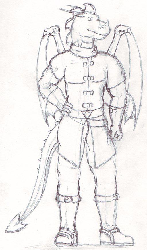 Medieval James sketch by RazenHashikado