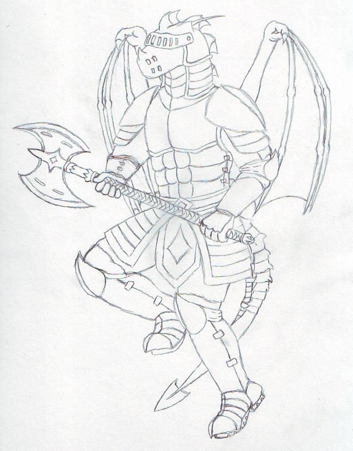 James the knight sketch by RazenHashikado