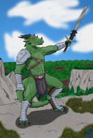 Varanis, mighty barbarian by RazenHashikado