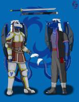 Razen's armor and clothing by RazenHashikado