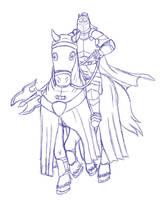 Lars on horse sketch by RazenHashikado