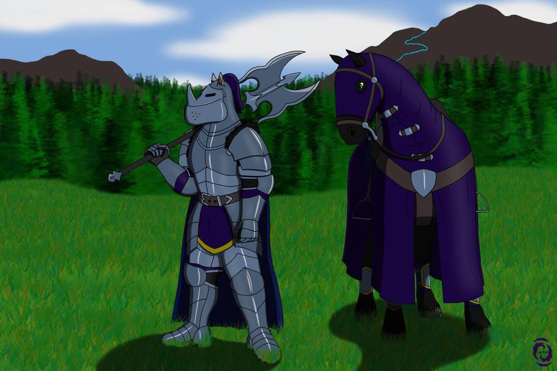 Laurentius and his horse by RazenHashikado
