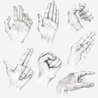 Hand study by n1kola