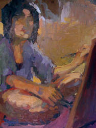 Painting of painting myself by gaux-gaux