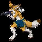 LaserTag Mascot 2018 by OkamiWhitewings