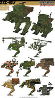 Soviet Zis-5v Bipedal Conversion Variants by Rob-Cavanna