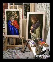 my studio, November, 2006 by elliegreco