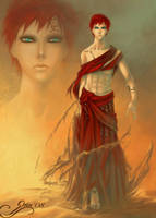 : Gaara - Blood and Sand : by orin