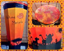 Lion King Inspired Drum by LaurelArtz