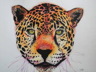 Jaguar in Watercolor by LaurelArtz