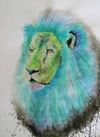 Green Lion by LaurelArtz