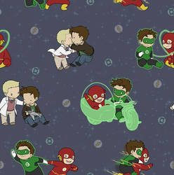 Flash Green Lantern tiled wallpaper by DeanGrayson