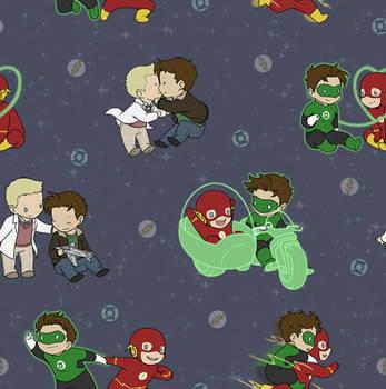 Flash Green Lantern tiled wallpaper by DeanGrayson