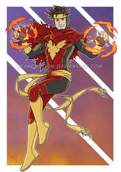 Commission - Wiccan Phoenix mashup by DeanGrayson