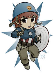 Commission - Peggy Cap chibi by DeanGrayson