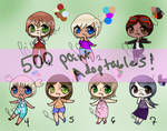 [Open- REDUCED] 100 point human adoptables by PrinceDazai
