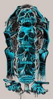 Skull Totem by qetza