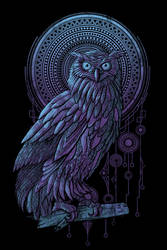 Owl Nouveau II by qetza