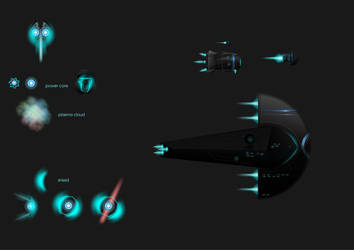 Art for upcoming 2D space game by SWETQ