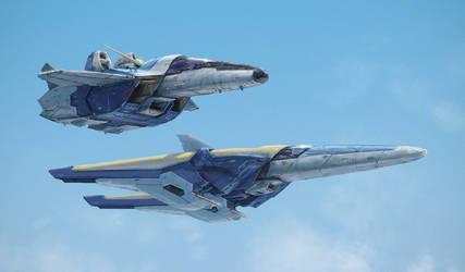 V1 and V2 Gundam Core Fighter by yutori-custom