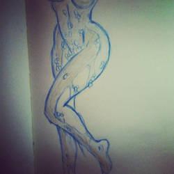 Danger Girl Sketch (sort of NSFW) by cyxodus