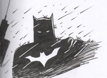Batman in the Rain Finished by cyxodus