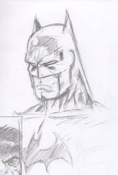 Batman Scowl Pencils by cyxodus