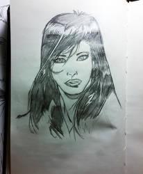 Late night drawing by cyxodus
