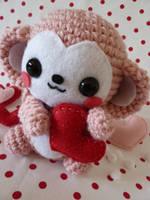 Valetine's Day Monkey Amigurum by cuteamigurumi