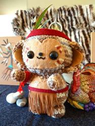 Thanksgiving Monkey Amigurumi by cuteamigurumi