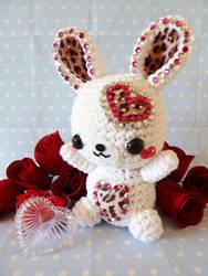 Valentine's Day Rabbit Amigurumi by cuteamigurumi