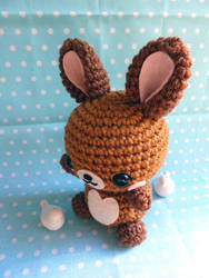 Peanut Butter Chocolate Rabbit Amigurumi by cuteamigurumi