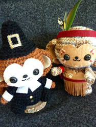 Thanksgiving Pilgrim Monkey Amigurumi by cuteamigurumi