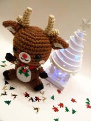 Rudolph Reindeer Amigurumi by cuteamigurumi