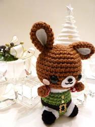 Christmas Elf Rabbit Amigurumi by cuteamigurumi