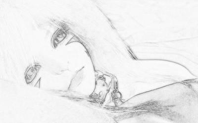 Shades Of Blue Sketch by blondofu
