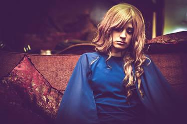 Vintage Lady in Blue by Stephonika-W-Kaye