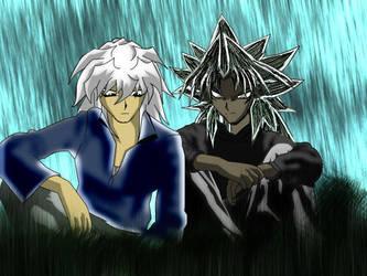 Marik and Bakura by xXShadowFiendXx