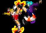 Who's kicking who? by Satomi-Mreow