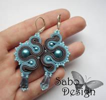 BLUE DRAGONS - soutache earrings by SamanthaBossy