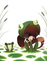 Frog Raccoon by miikanism