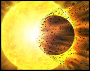 sun explosion by alwahied