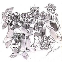 Megaman 2 Robot Masters by hao-asakura