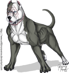 Fredward the pitbull by casualGEE