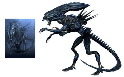 Earth Queen Xenomorph by Risen-From-The-Ruins