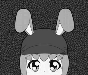 Kelin Peeking (Grayscale) by Xothex