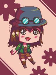 Chibi Terraria Steampunker by Xothex
